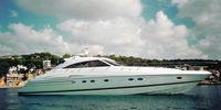 Princess V65 - 2003  - MAN D2842 LE 404 2 X 1 300 Hp, 400 000 € TVA Payée  - Princess V65 - Vue mouillage en Baie de Cannes